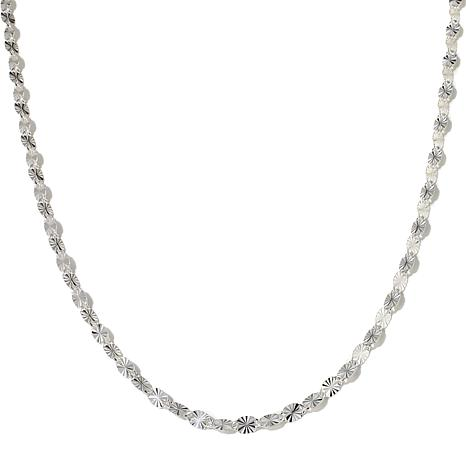 "Sevilla Silver™ Fancy Link Adjustable 28"" Necklace"