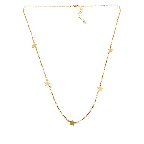 Sevilla Silver™ Gold-Plated Star Station Necklace