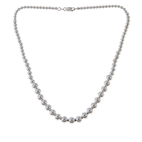 "Sevilla Silver™ Graduated Bead 18"" Necklace"