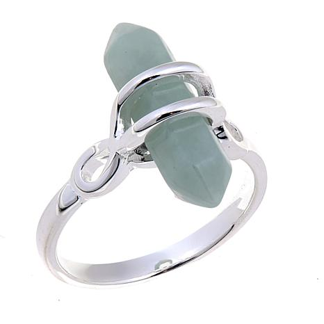 Sevilla Silver™ Green Jade Prism Wrap Ring
