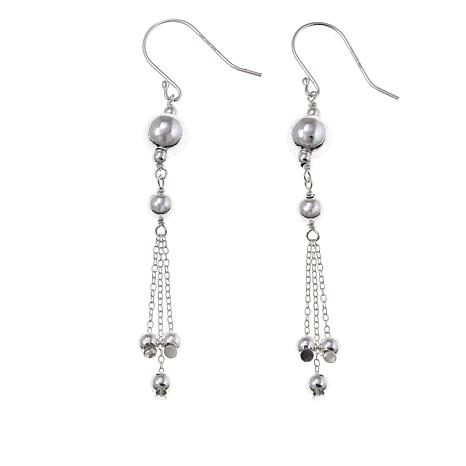 Sevilla Silver™ High-Polished Beaded Multi-Strand Drop Earrings