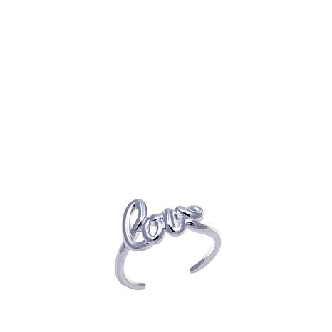 "Sevilla Silver™ ""Love"" Script Toe Ring"