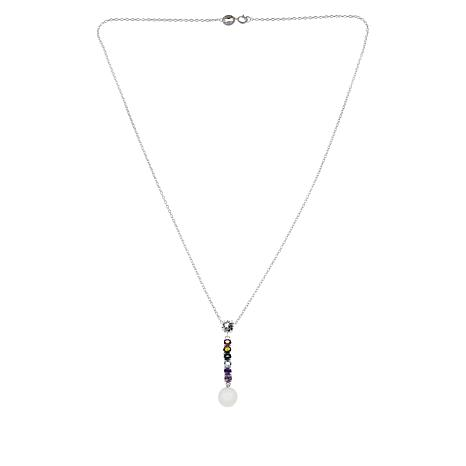 "Sevilla Silver™ ""Prism Collection"" Multigem Pendant with 18"" Chain"