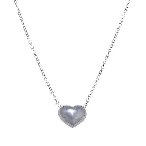 "Sevilla Silver™ Puffed Heart 18"" Necklace"
