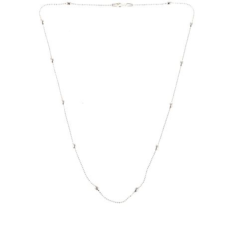 "Sevilla Silver™ Shot Bead Oval Station 18"" Necklace"