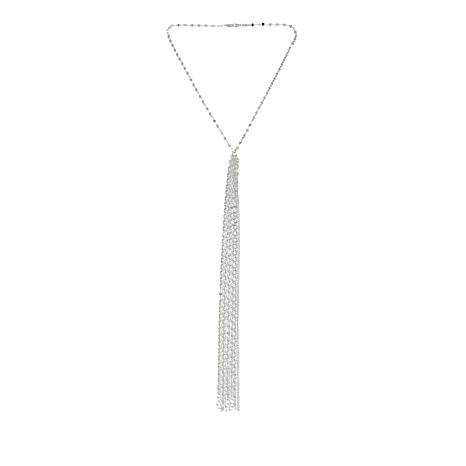 Sevilla Silver™ Y-Shaped Sparkle Chain Tassel Necklace