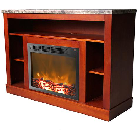 47 In Electric Fireplace With A 1500w Log Insert And Cherry Mantel