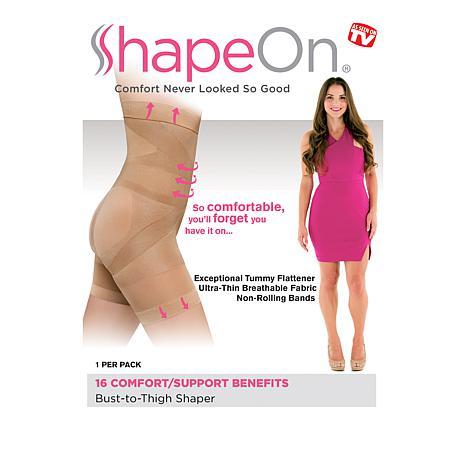 3de8a25498 ShapeOn Bust-to-Thigh 16-Point Shaper - 8763459