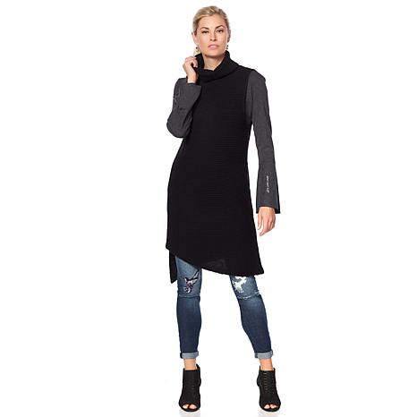 Sheryl Crow Asymmetric Sweater Tunic