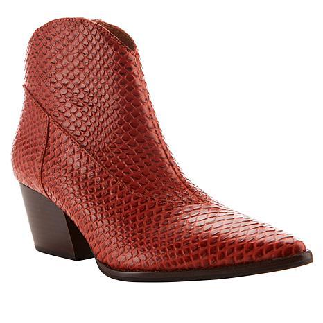 Sheryl Crow Daria Snake-Embossed Leather Bootie