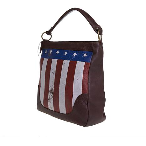 e90d46a90520 exclusive! Sheryl Crow Leather Flag Hobo