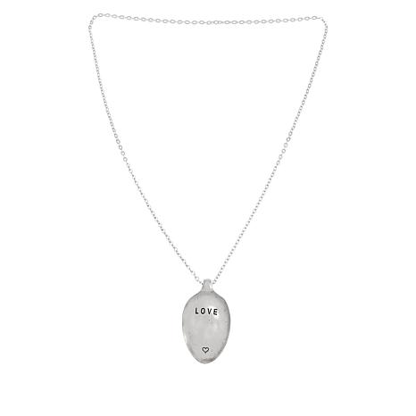 """Shiny Little Blessings """"Love"""" Spoon Necklace"""