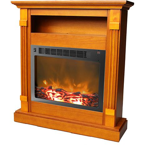 Sienna Fireplace Mantel with Electronic Fireplace Insert