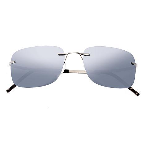 Simplify Ashton Polarized Sunglasses w/Gunmetal Frame & Silver Lenses