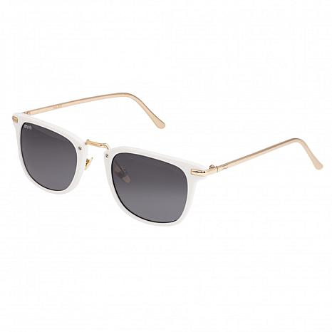 Simplify Theyer Polarized Sunglasses with White Frame and Black Lenses