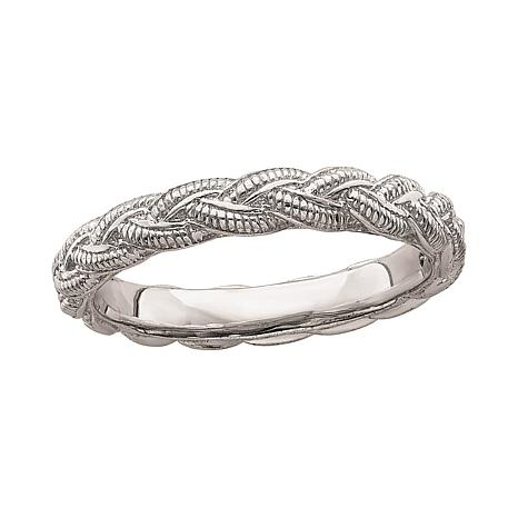 Simply Stacks™ Sterling Silver Braided Ring