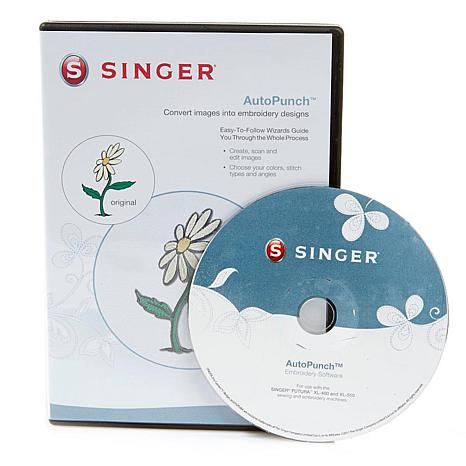 Singer® Futura AutoPunch Embroidery Software CD-ROM