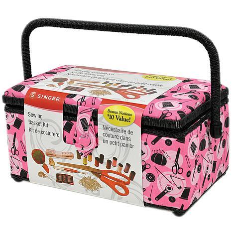 Singer Sewing Basket - Pink Notions