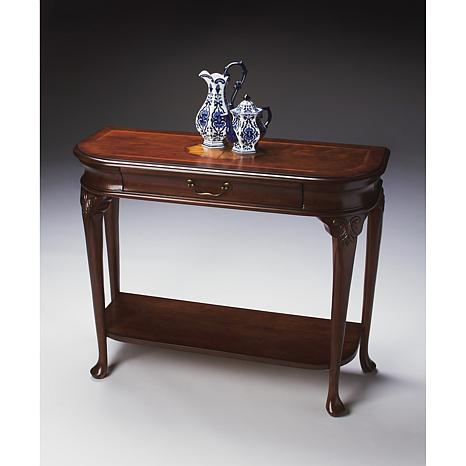 Single Drawer Cherry And Maple Console Table