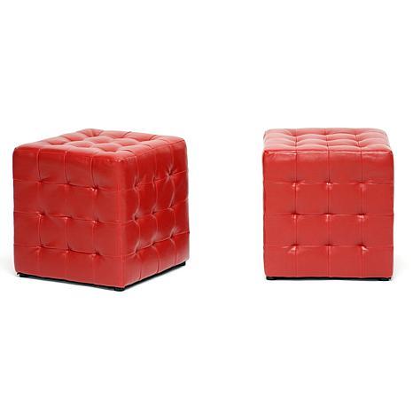 Siskal Modern Cube Ottoman - Set of 2