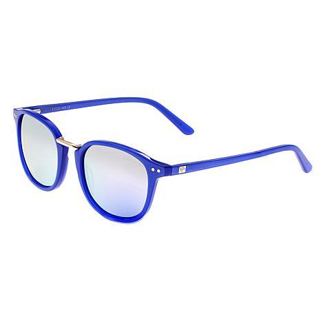 Sixty One Champagne Polarized Sunglasses -Blue Frame & Lavender Lenses