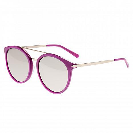 Sixty One Moreno Polarized Sunglasses - Purple Frame & Silver Lenses