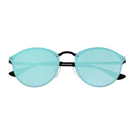 Sixty One Picchu Polarized Sunglasses with Black Frame and Blue Lenses