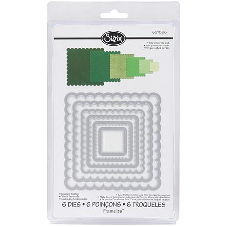 Sizzix Framelits Die Set 6-piece - Scalloped Squares