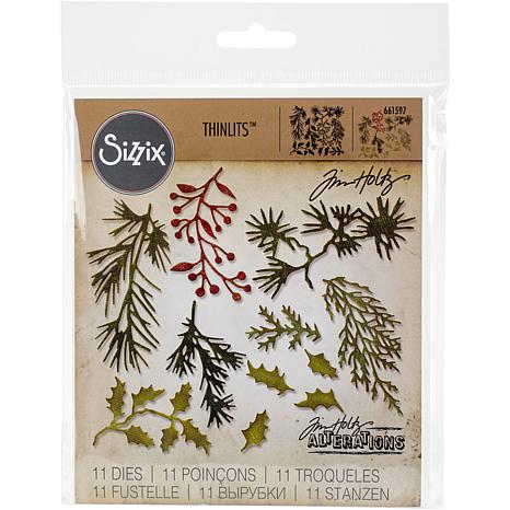 Sizzix Thinlits Dies By Tim Holtz 11-pack - Mini Holiday Greens