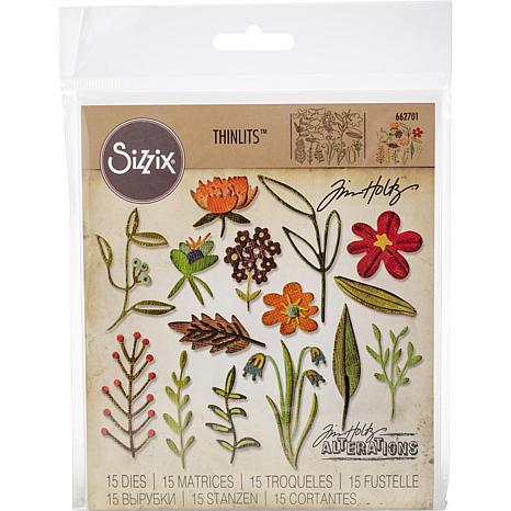 Sizzix Thinlits Dies By Tim Holtz  - Funky Floral #2