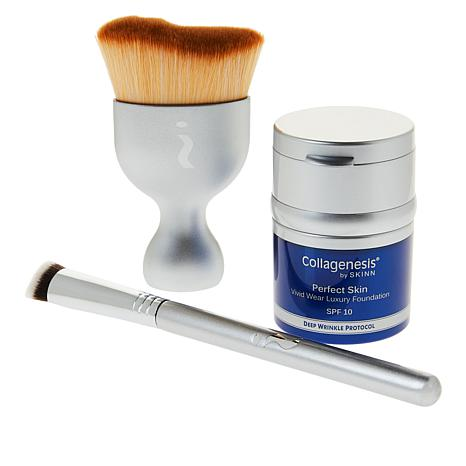 Skinn Cosmetics Collagenesis®DWP Tawny Foundation and Brush Set