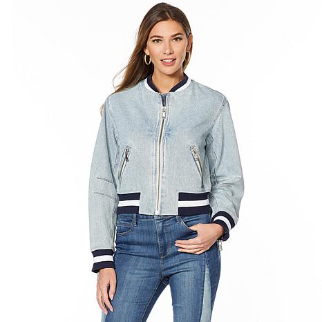 Skinnygirl Denim Bomber Jacket