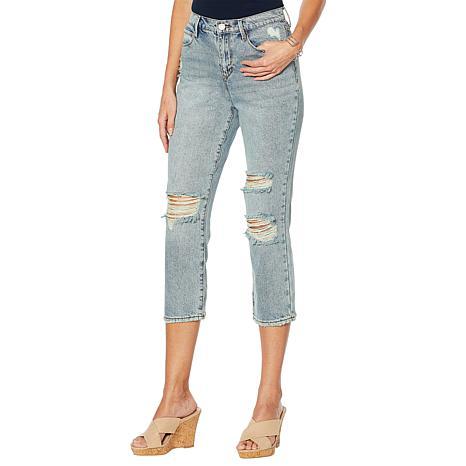 Skinnygirl High-Rise Straight Cropped Jean - Samana