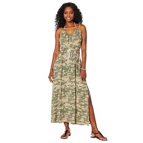 Skinnygirl Printed Maxi Dress