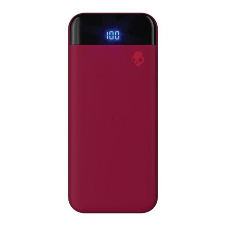 Skullcandy Stash Fuel Portable Battery & Wireless Charger in Deep Red
