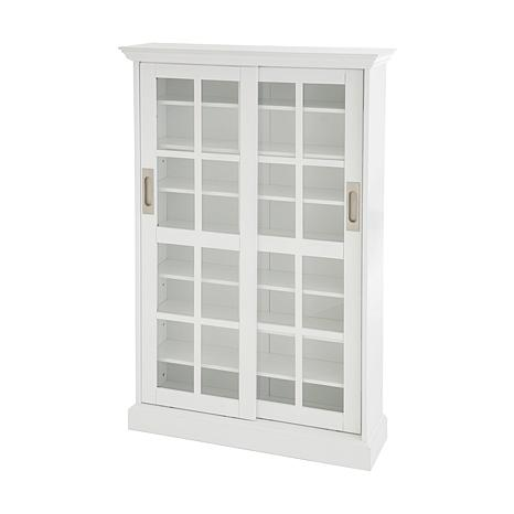 Sliding Door Media Cabinet White 6221924 Hsn