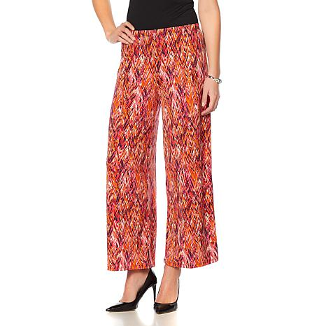 Slinky® Brand 2pk Knit Palazzo Pants in Solid and Print