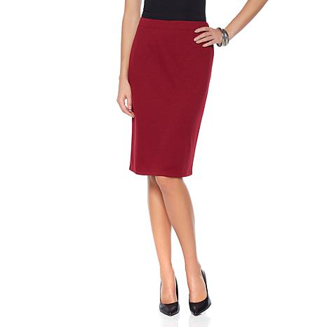 Slinky® Brand 2pk Ponte Knit Pencil Skirts