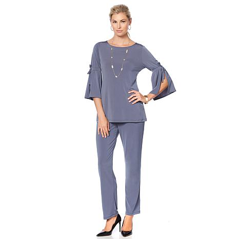 Slinky® Brand 3/4 Bell-Sleeve Tunic and Pant Set