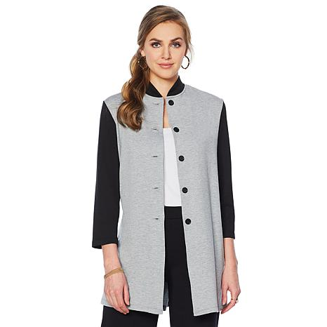 Slinky® Brand French Terry Colorblock Duster