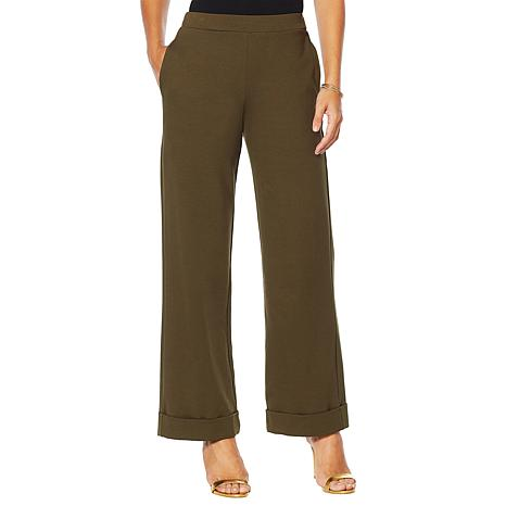 Slinky® Brand Ponte Trouser Pant with Pockets