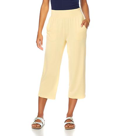 Soft & Cozy Loungewear Cool Luxe Knit Pull-On Capri Pant