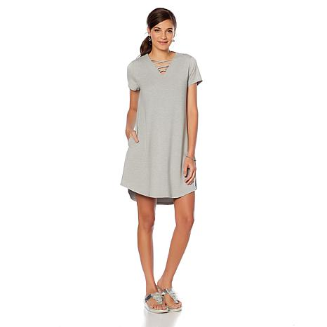 Soft & Cozy Loungewear Cool Luxe Knit V-Neck Dress