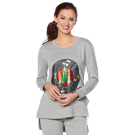 Soft & Cozy Loungewear Holiday French Terry Sweatshirt