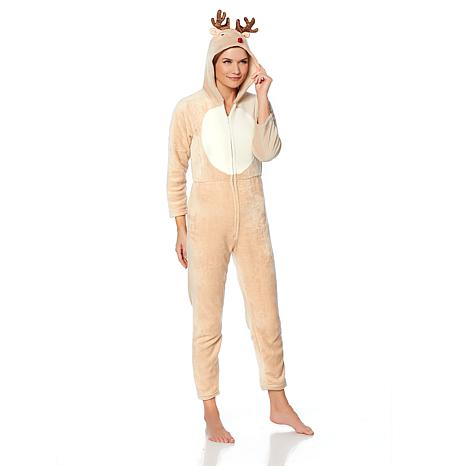 Soft & Cozy Loungewear Super Soft Hooded Holiday Onesie