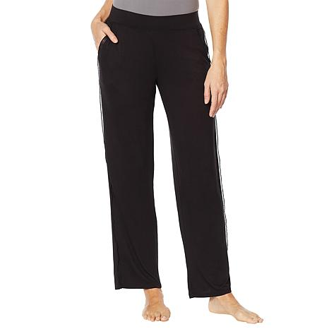 Soft & Cozy Relaxed Jersey Knit Pant with Chiffon Trim