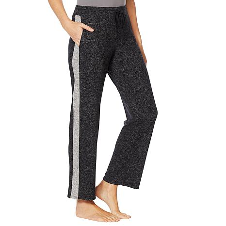 Soft & Cozy Relaxed Sweater Knit Pant with Contrast Stripe
