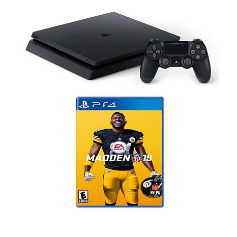 "Sony PlayStation 4 Slim 1TB Console w/""Madden NFL 19"" & Accessories"
