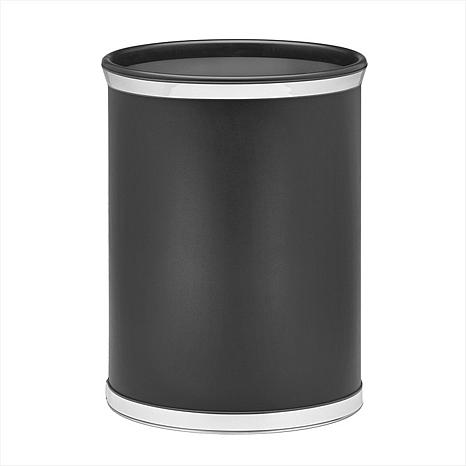 Sophisticates Oval Waste Basket with Vinyl Covering