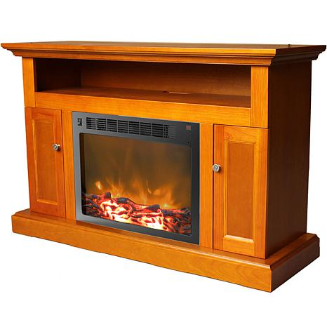 Sorrento Fireplace Mantel w/Electronic Fireplace Insert
